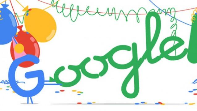 Today's Google Doodle celebrates Google's eighteenth birthday, and we take a walk down memory lane